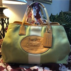 COACH Hampton Green Canvas 10th Anniversary Bag